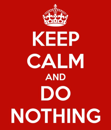 google core update - keep calm and do nothing